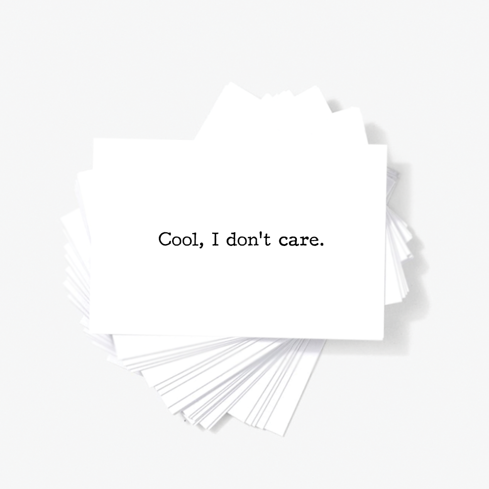 Offensive Business Cards Funny Rude and Insulting Mini Greeting ...