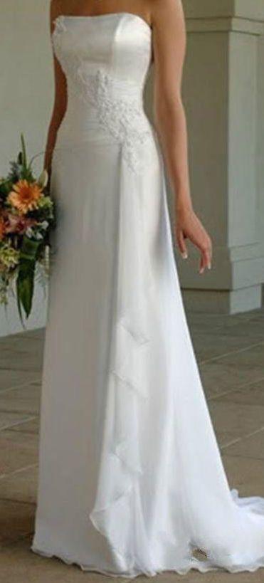 Brautkleid Hochzeitskleid Gr. 38, schulterfrei, weiß in Kleidung ...