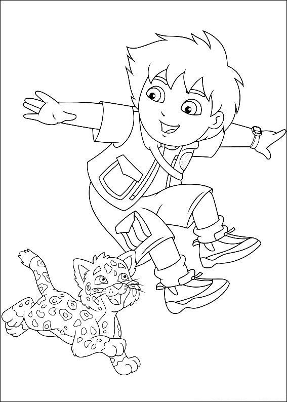 Diego Coloring Pages Go Diego Go Coloring Pages Met Afbeeldingen