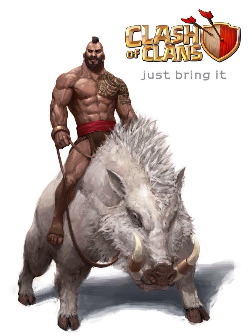 Clash Of Clans Hog Rider Animasi Kertas Dinding Kartu
