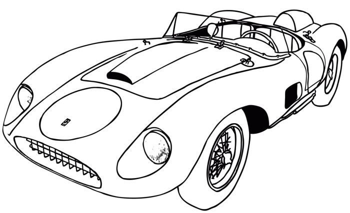 Ferrari Car Classic Coloring Page