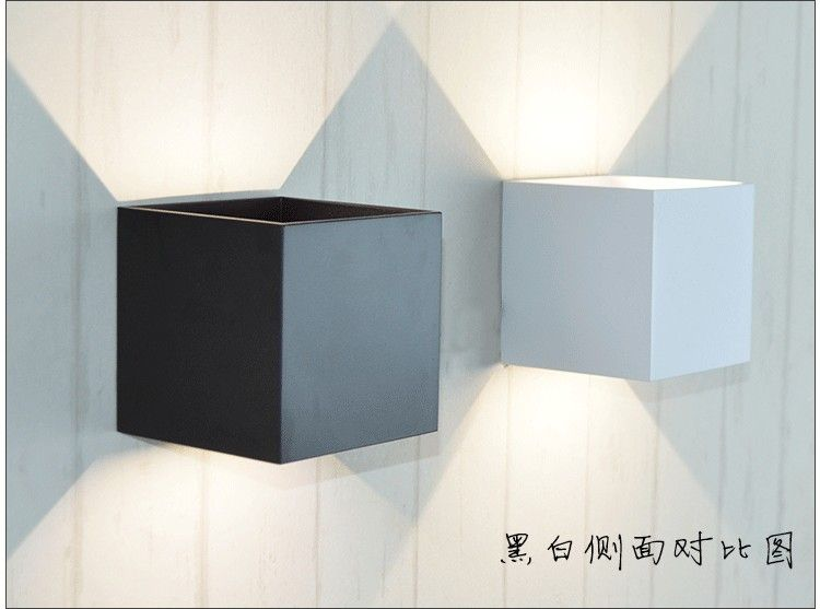 6W Adjustable Angle Cube Simple Modern LED Wall Lamp Up
