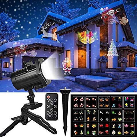 Christmas Projector Lights, Comkes 15 Patterns LED Projector Lights