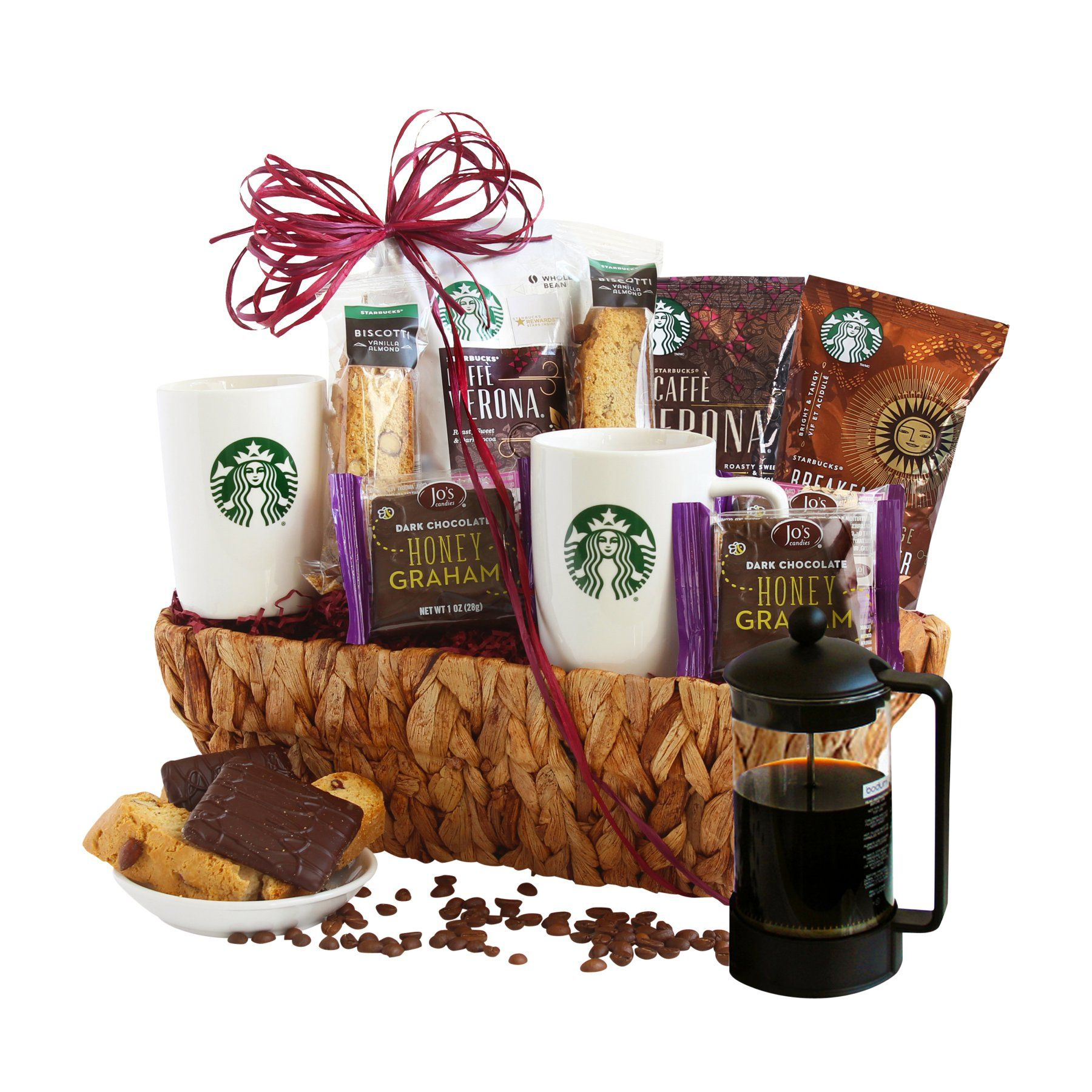 California Delicious Starbucks Lovers Gift Basket with