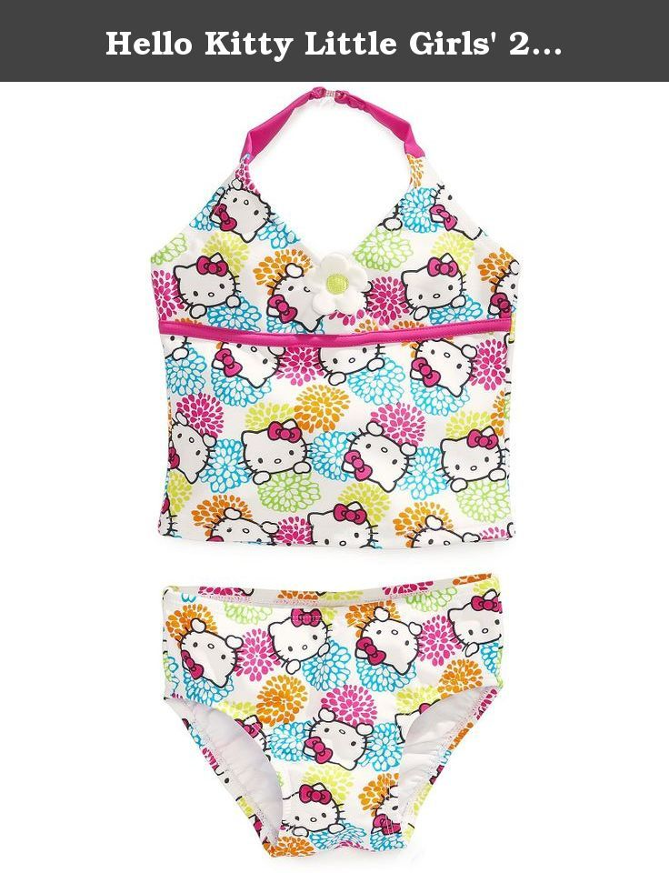 Hello Kitty Girls 2 Piece Tankini Swimsuit