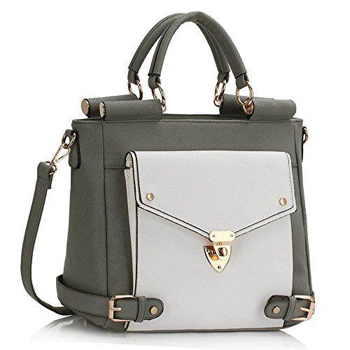 ae981a366f30 New Women Designer HandBags Ladies Faux Leather Shoulder Tote Satchel Cross  Body Grab Handbags