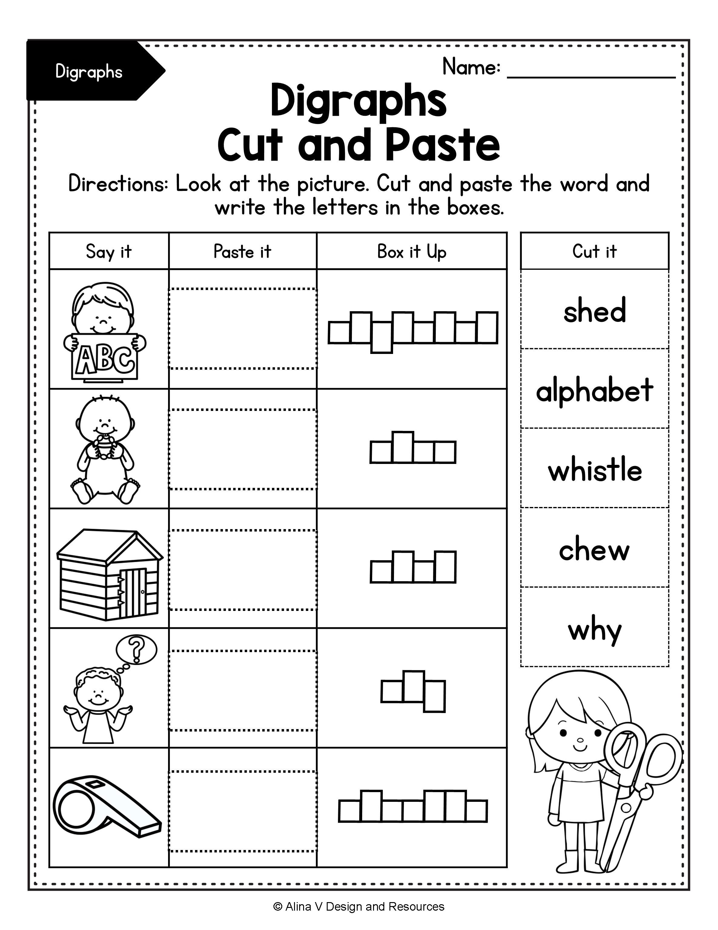 hight resolution of Consonant Digraphs Worksheets SH