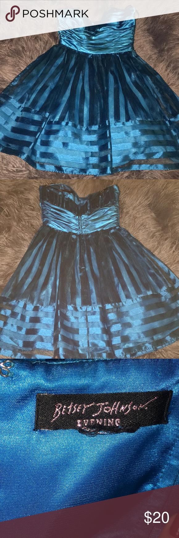 Neon silk blue prom dress