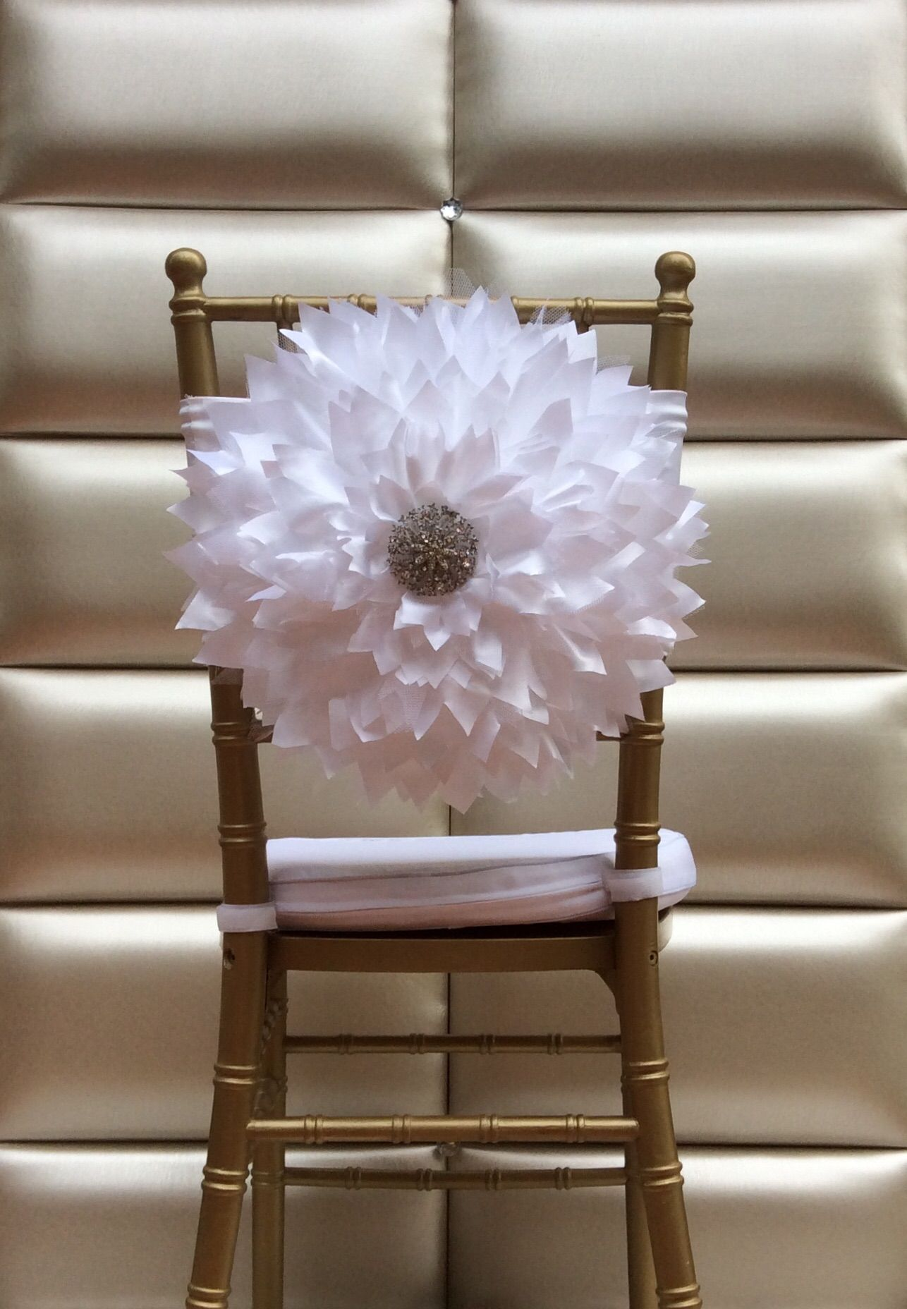 Flower Chair Sashes For Wedding Designer Dining Chairs Sash By Florarosa Design