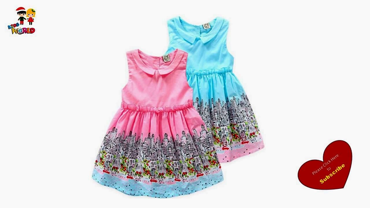 c2143a2e1 Kids Summer Simple Cotton Frock Designs Easy to Make at Home ...