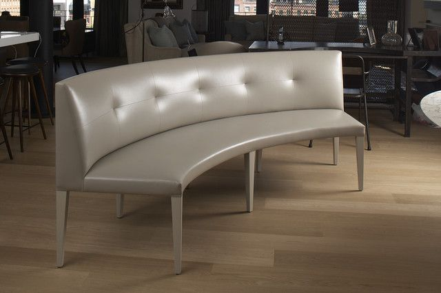 Claire Banquette Contemporary Dining Benches New York Curved Dining Bench