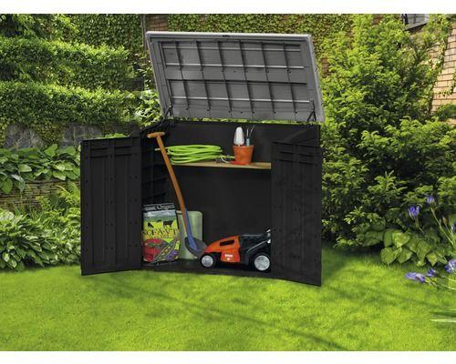 Abri à outils de jardin 145.5x82 cm, anthracite-gris | Mies ...