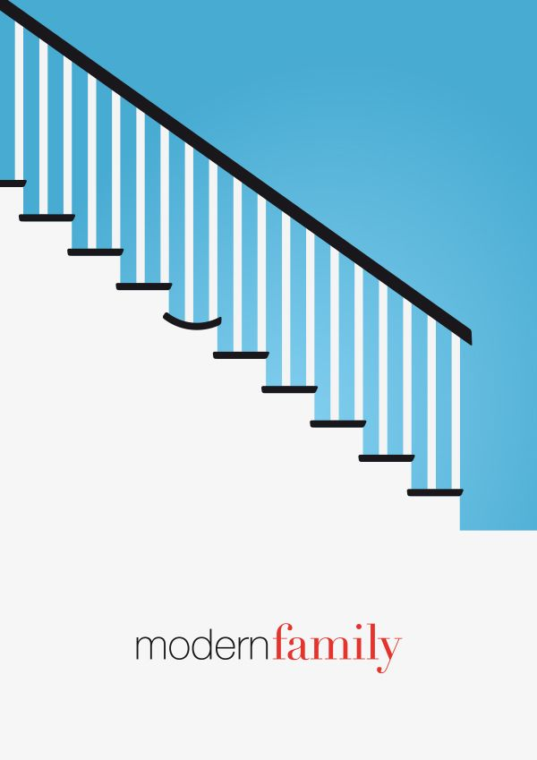Modern Family - Minimal Poster by Fabrizio Bosica #modernfamily #minimaltvposters