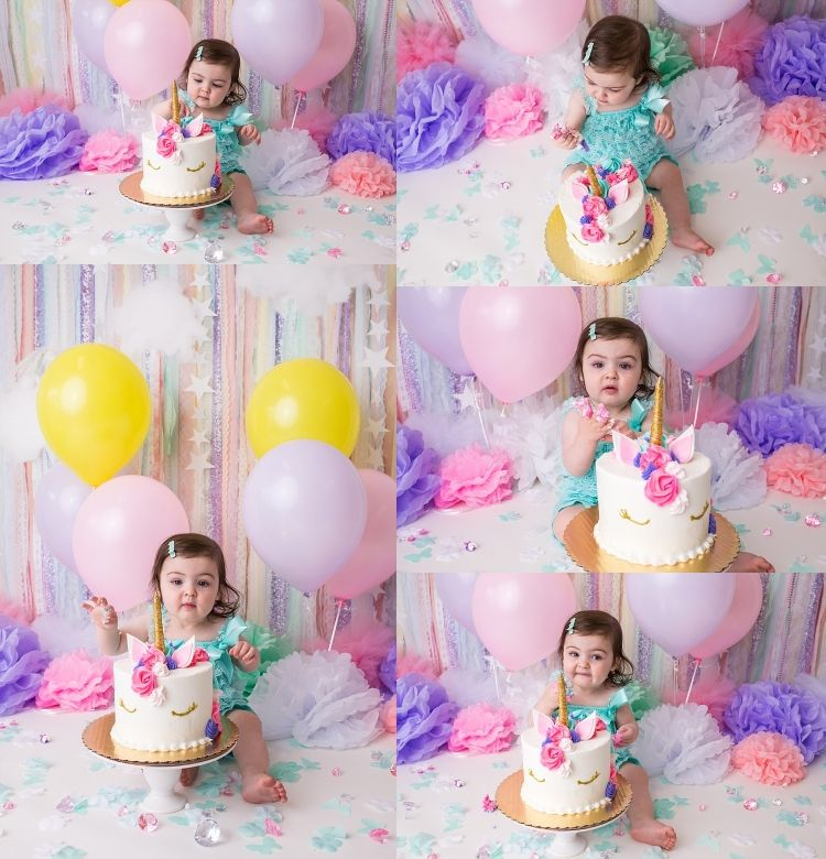Smash Cake Girl, Cake, First Birthday Cakes