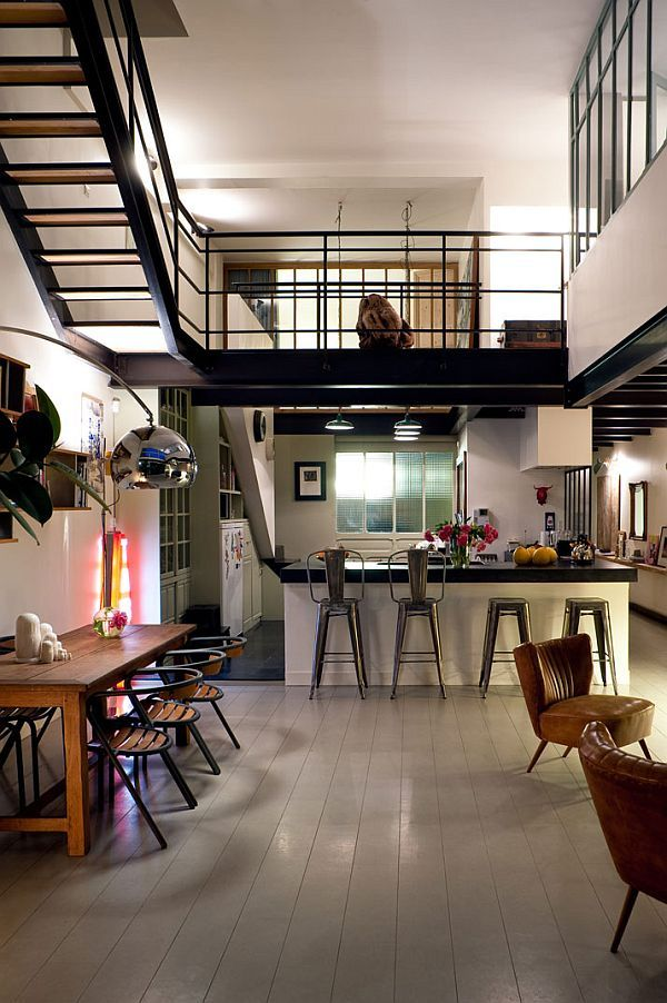 Parisian Dream Loft Interior Design | Loft interior design, Loft ...