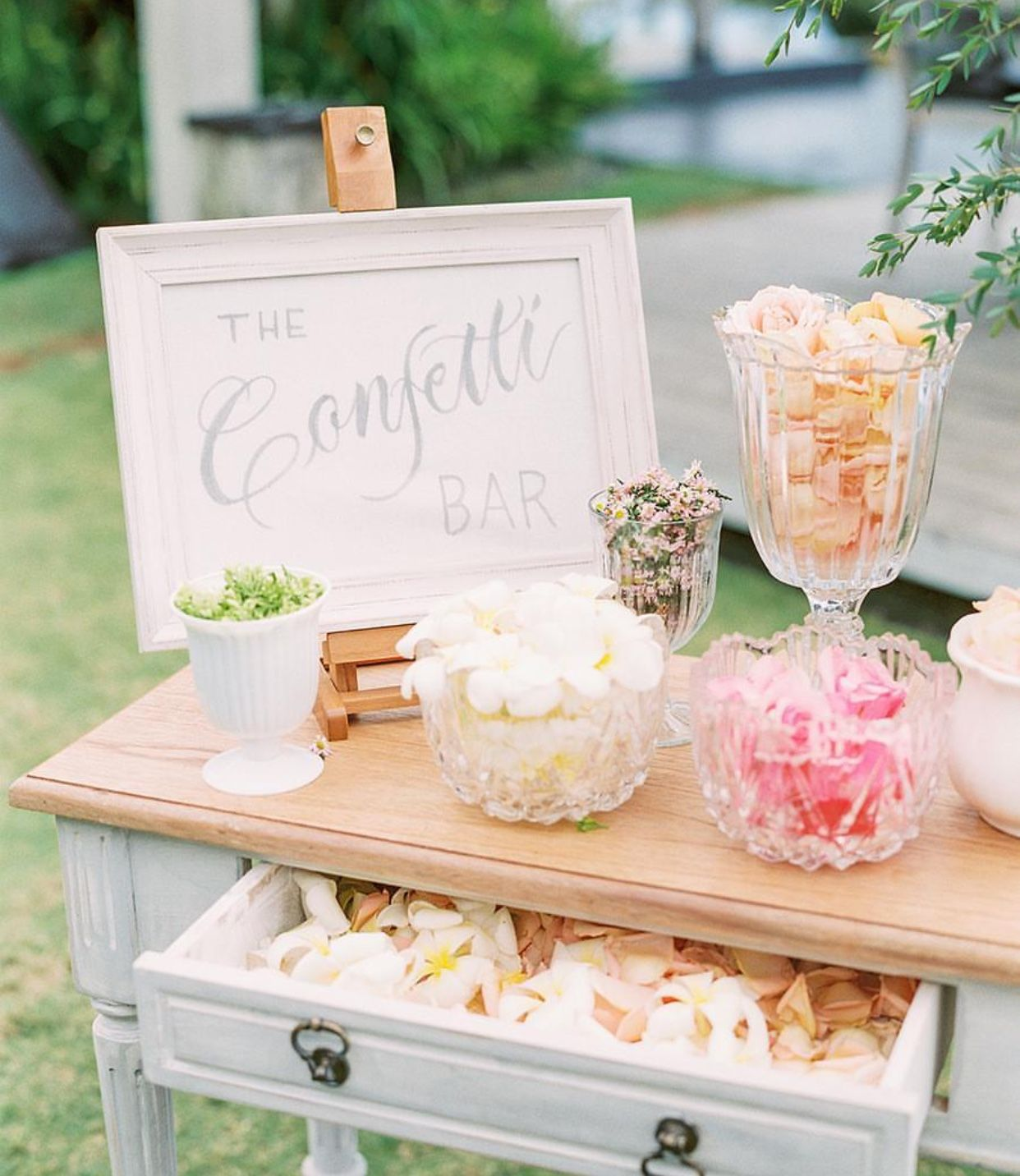 Rose Petal Confetti Bar To Toss At The Ceremony