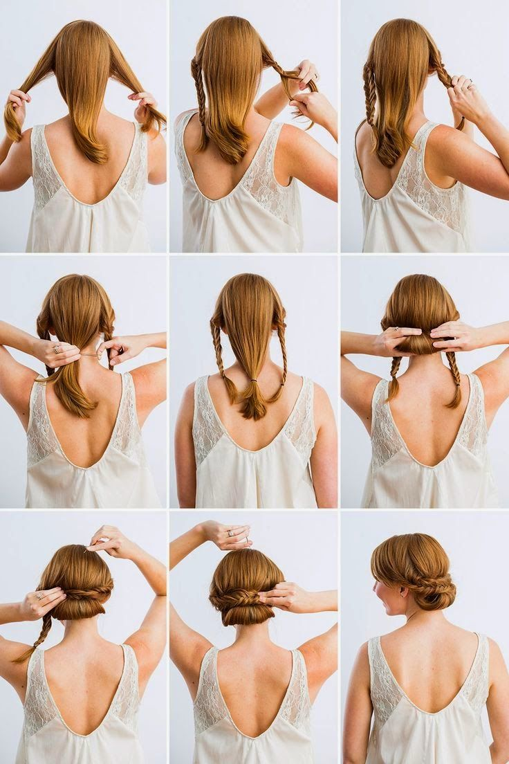 6 Hairstyles That Take 5 Minutes Or Less Diy Wedding Hair Medium Hair Styles Hair Dos