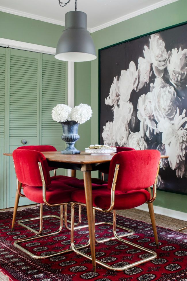 Why  painted our kitchen green on  whim diy home decorating room dining decor also rh pinterest