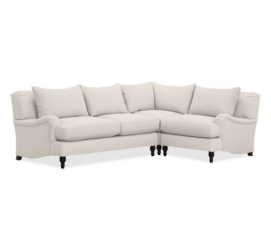 Carlisle Upholstered 3-Piece Sectional with Corner | Pottery Barn