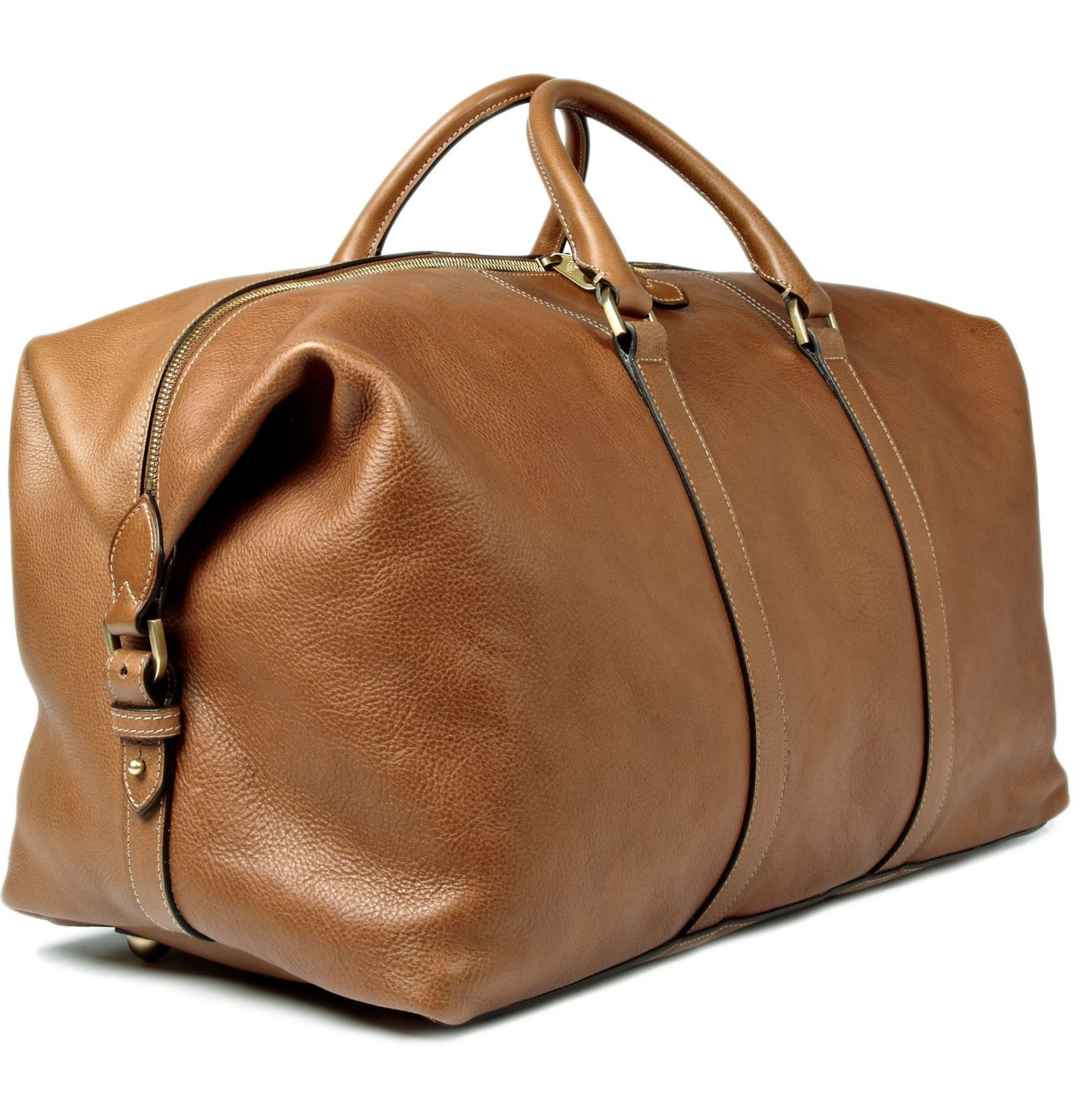 Brown Clipper Leather Holdall Mulberry Leather Holdall Leather Weekender Bag Leather Weekender