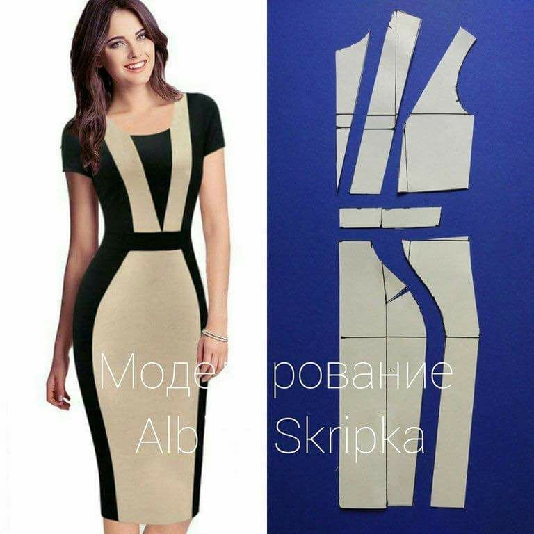 b9b50a4aa Two colour block dress | Pattern making | Sewing clothes, Sewing ...