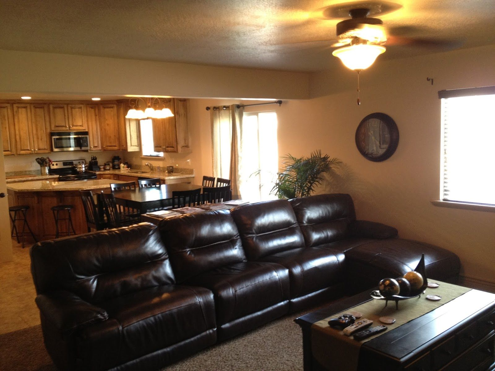 Image Result For Living Rooms With Dark Brown Leather Couches