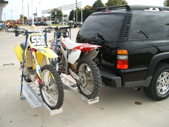 Double Aluminum Dirtbike Carrier Hitch Mounted Cargo Carrier