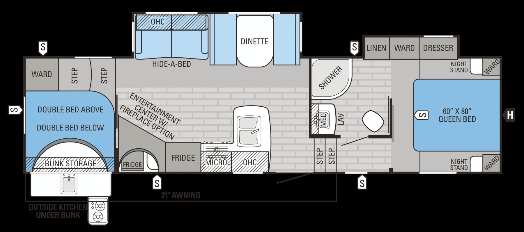 2016 Eagle HT 29.5BHDS Floorplan 4travelersonthego our