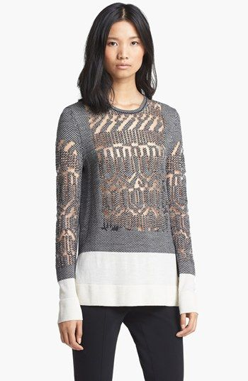 Alexander Wang Burnout Fair Isle Pullover available at #Nordstrom