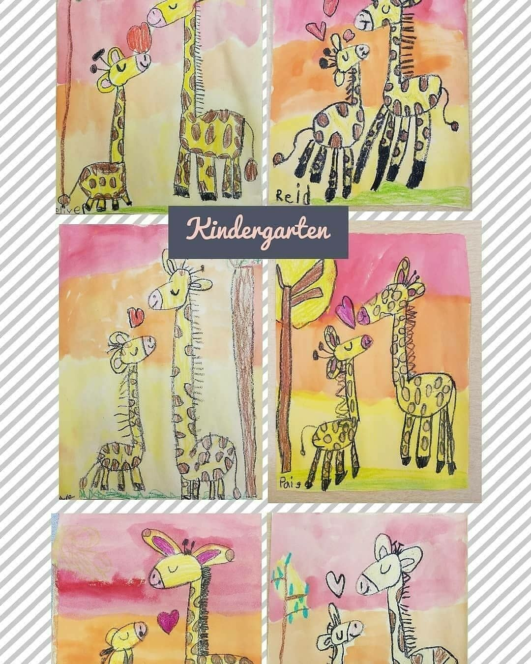 Kindergarten Guided Drawing Giraffes