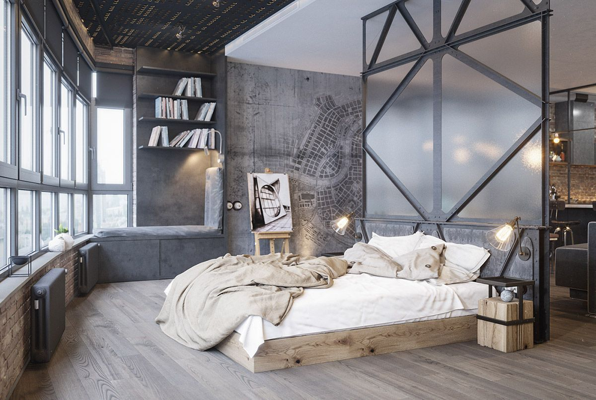 Running Out Of Ideas We Ve Got You Covered Find All The Inspiration Here Luxury Interi Industrial Bedroom Design Amazing Bedroom Designs Studio Interior