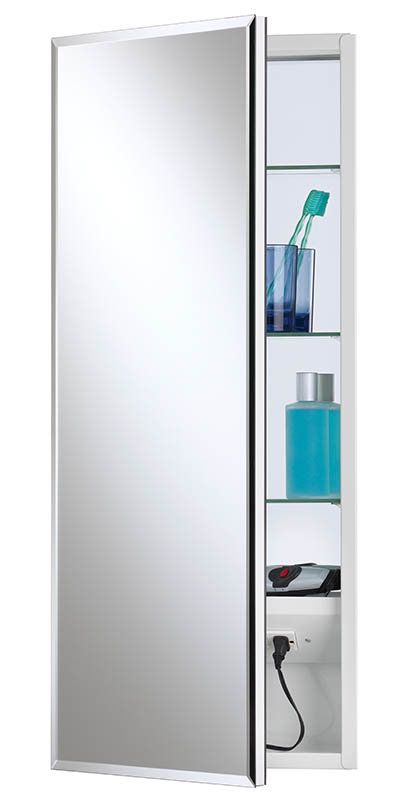 view the nutone 704309x meridian medicine cabinet 15x35 bevel mirror rh pinterest com Recessed Medicine Cabinet with Electrical Outlet Bathroom Medicine Cabinet with Outlet