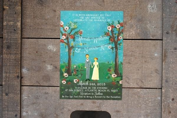 Hand Painted Invitations by Ansley Randall, via Behance