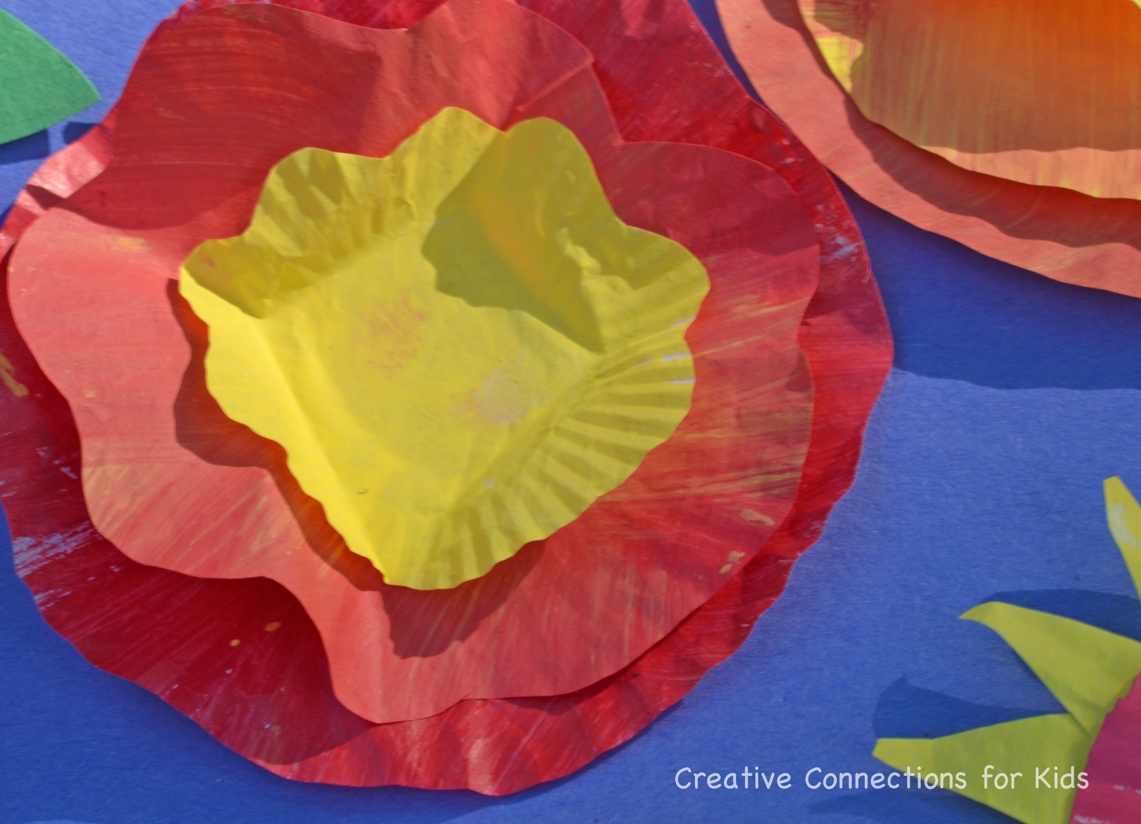 Bright cheerful easy cupcake paper flowers childrens art bright cheerful easy cupcake paper flowers mightylinksfo