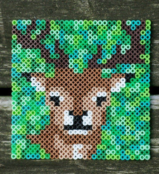 Hama beads, perler bead deer