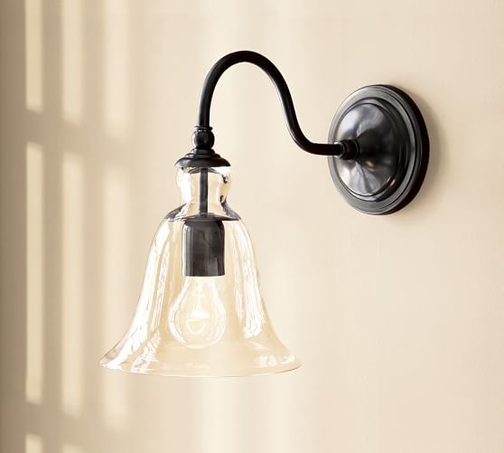 Rustic Gl Indoor Outdoor Sconce At Pottery Barn