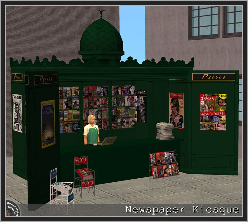 Around The Sims 2 Objects Downtown Newspaper Kiosque Sims