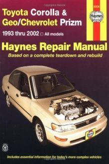 toyota corolla & geo/chevrolet prizm 1993-2002 (haynes manuals) ,  978-1563924552, haynes, haynes
