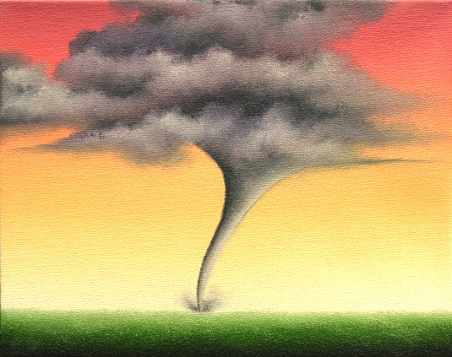 Tornado Art Print, Stormy Landscape Wall Decor, Giclee Print of ...