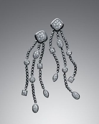 Pave Diamond Confetti Tel Earrings By David Yurman At Neiman Marcus