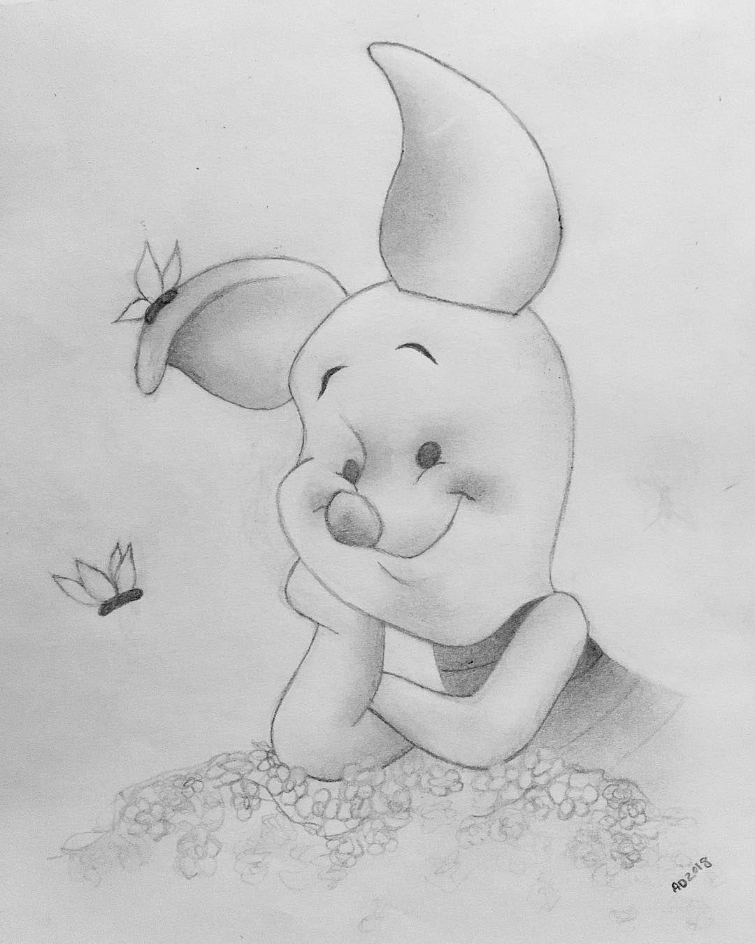 Piglet Sketch Disney Drawing Doodle Piglet