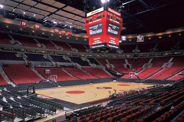 100 S Of Games At The Rose Garden Arena In Portland Or Portland Trailblazers Nba Arenas Rose Garden Portland