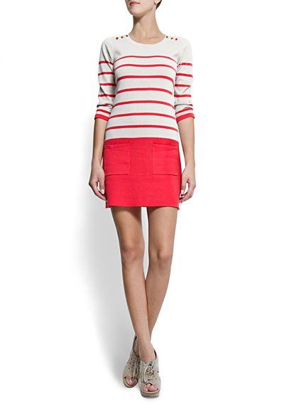 MANGO - CLOTHING - Striped dress