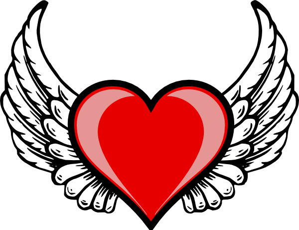 heart wing logo clip art vector clip art online royalty free rh pinterest com pictures of broken hearts with wings images of red hearts with wings