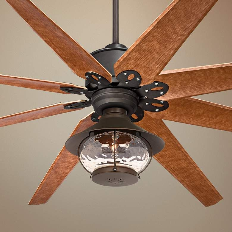 72 Predator English Bronze Lantern Outdoor Led Ceiling Fan