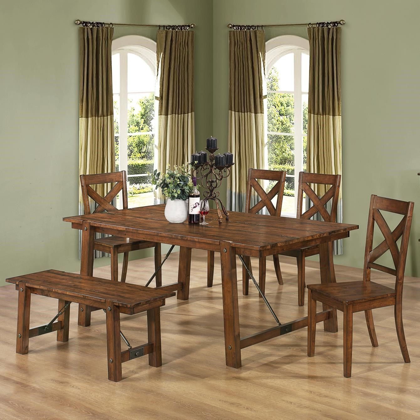Coaster Furniture 9 Lawson Dining Bench   Country dining ...