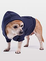 American Apparel Navy Flex Fleece Dog Zip Hoodie. For details on how to order this item with your logo branded on it contact ww.fivetwentyfour.ca   #promotionalproducts  #doghoodie