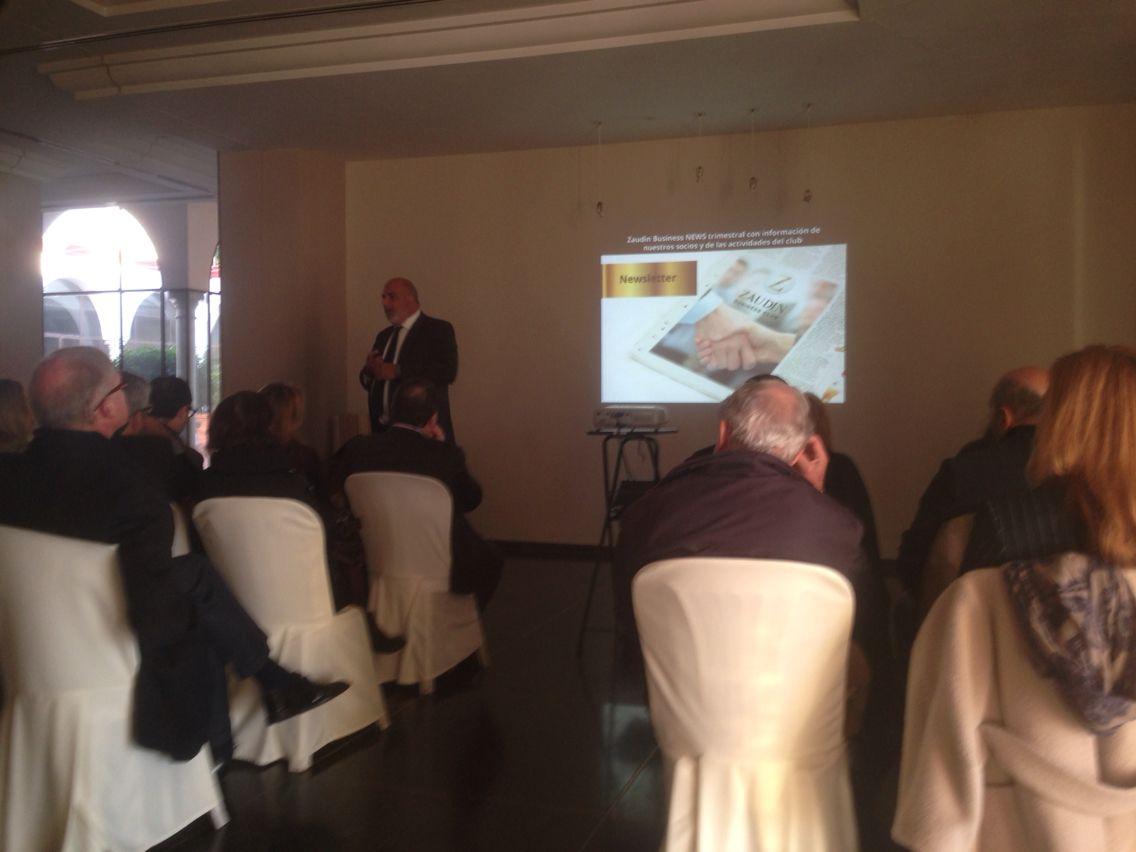 @RafaelRTovar: En la presentación del ZAUDIN Business Club. http://t.co/Fqk0KtWJ92