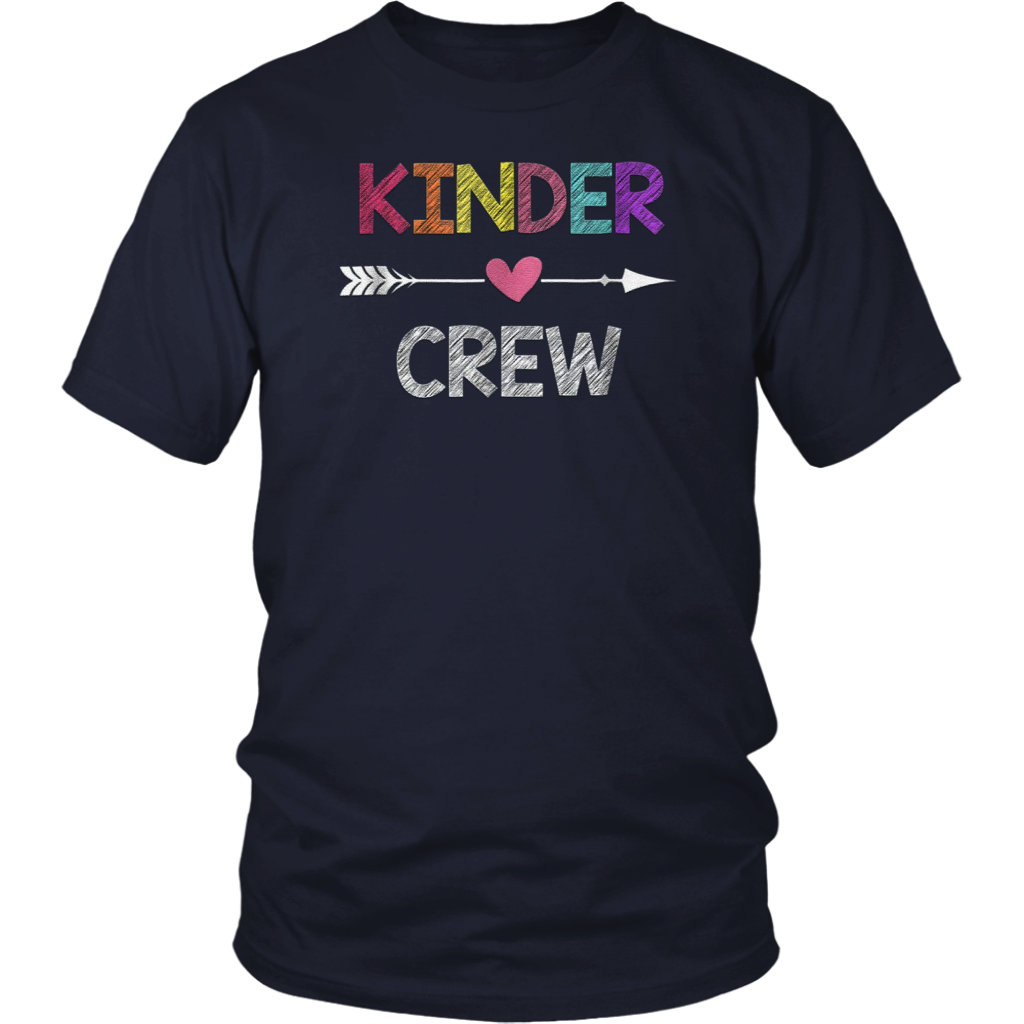 Kindergarten Teacher T Shirt Kinder Crew First Day Of