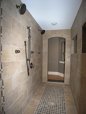 Custom Master Bath Double Walk In Shower